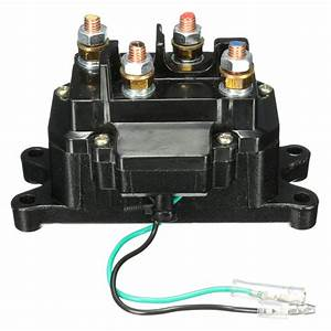 12v Solenoid Relay Contactor Winch Rocker Thumb Switch For