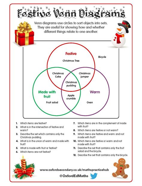 this themed worksheet features venn diagrams
