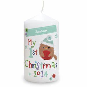 BABY S FIRST CHRISTMAS GIFT PERSONALISED CANDLE KEEPSAKE