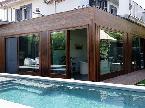 tettoie in legno chiuse vivereverde verande chiuse verande in legno verande