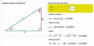 Trigonometrie Seiten Berechnen : sinus kosinus tangens fehlende l ngen und winkel im rechtwinkligen dreieck berechnen ~ Themetempest.com Abrechnung