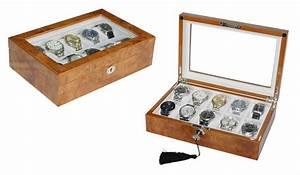 Uhren Aus Holz : elegante uhrenbox aus holz f r 10 uhren mit sichtfenster und abschlie bar ebay ~ Whattoseeinmadrid.com Haus und Dekorationen