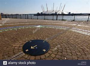 Greenwich Prime Meridian Line With The River Thames And