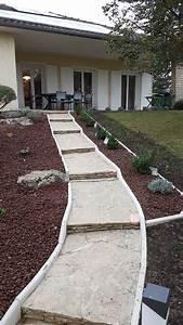 amenagement butte acces maison classique jardin With photo amenagement terrasse exterieur 0 l206le verte realisations