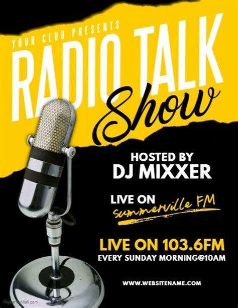 radio talk show flyer postermywall flyer design