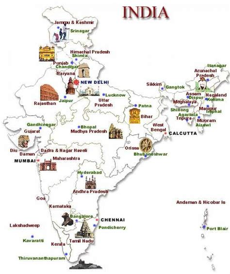 North India Tourist Places Map  Map North India Tourist