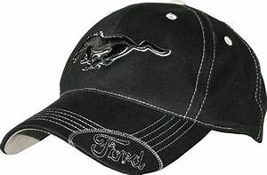 Ford Mustang Licensed Cotton Black Hat with Silver Stitching   eBay