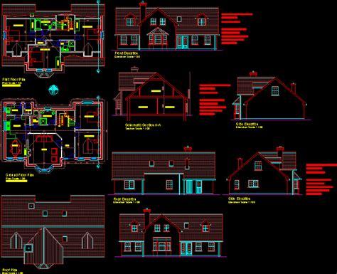 dormer bungalow dwg block  autocad designs cad