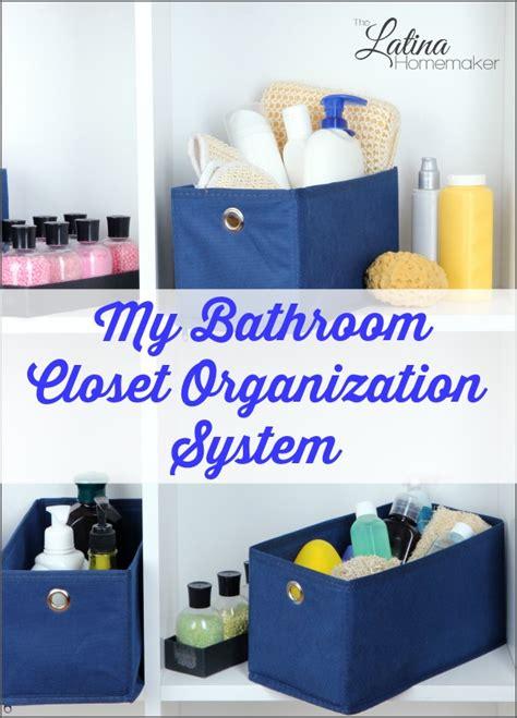 bathroom closet organization system