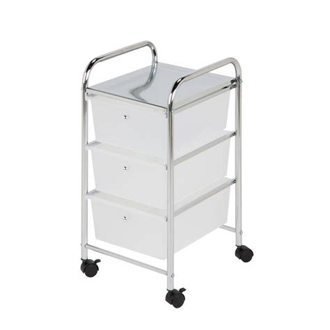 Storage Cart With Drawers And Wheels by Honey Can Do 3 Drawer Plastic Storage Cart On Wheels Crt