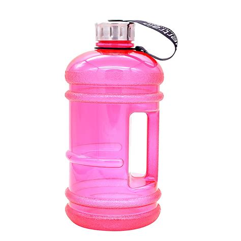 Designed for your pet to drink out of dish. 2.2L Jumbo Water Bottle - Pink