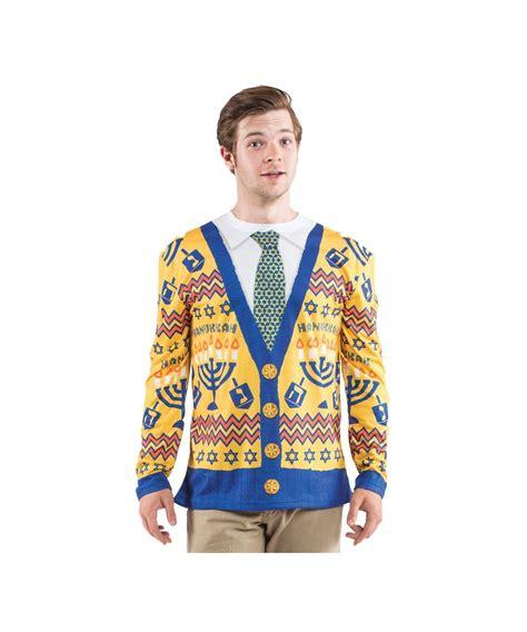 Ugly Hanukkah Sweater Mens Costume Shirt - Men Costume