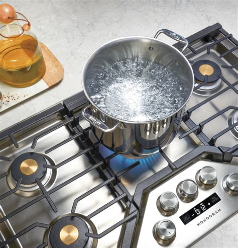 zgueslss monogram  smart deep recessed gas cooktop natural gas monogram appliances