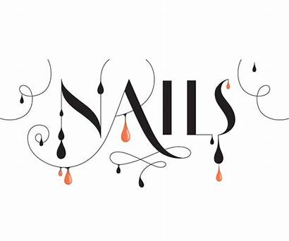 Nails Lettering Typography