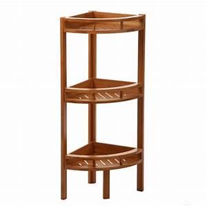 Meuble De Salle De Bain En Bambou : etagere d angle bambou ~ Edinachiropracticcenter.com Idées de Décoration