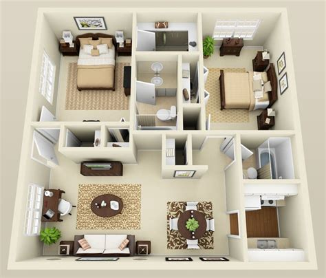 1 Bedroom Apartment Interior Design Ideas by Two Bedroom Apartment Layout Search Houses