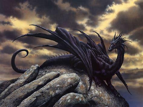 Warrior Cat Desktop Wallpaper Fantasy Black Dragon Wallpaper