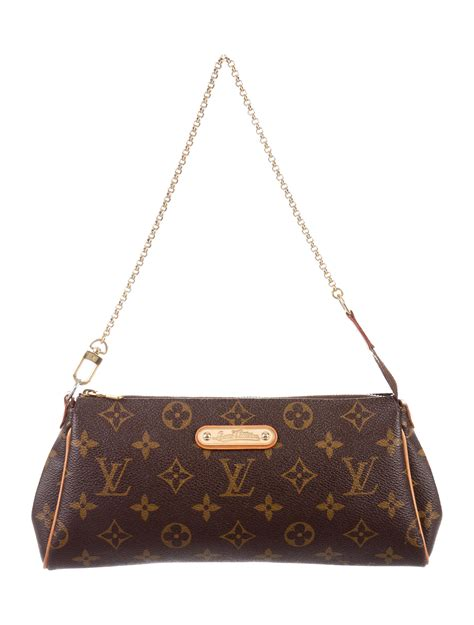 louis vuitton monogram eva pochette  strap handbags