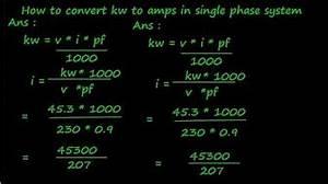 Electrical Formulas Kva Kw Kwh Volt Ampere Hp