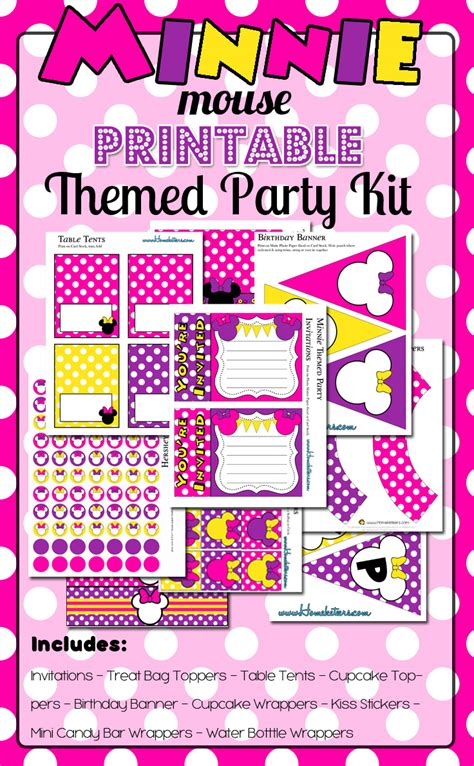 Minnie Mouse Party Printables  Roundup Time {free Too!}