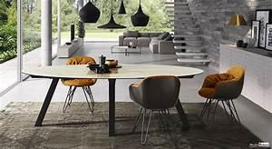 Table Ovale Design : table c ramique meubles ~ Teatrodelosmanantiales.com Idées de Décoration