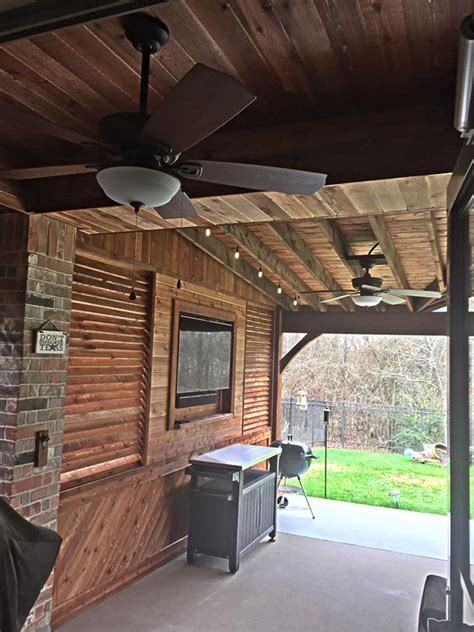 outdoor tv space remodeling contractor complete