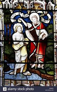 Stained Glass Window Depicting the Baptism of Jesus Christ ...