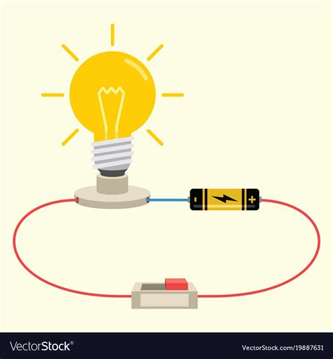 simple electricity circuit royalty free vector