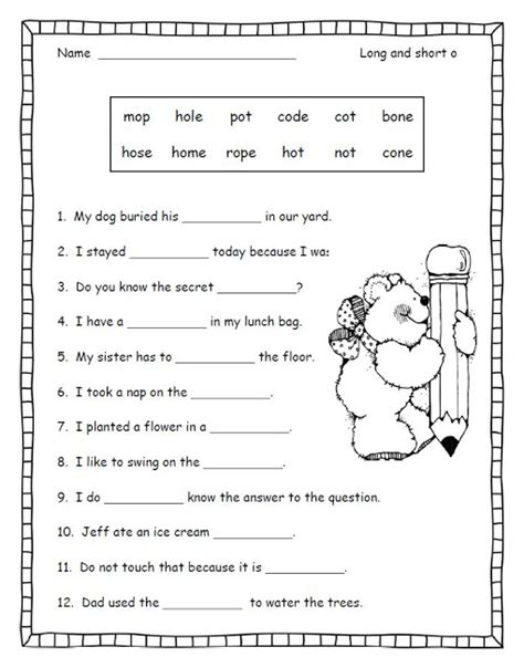 vowel worksheets 2nd grade worksheets for all