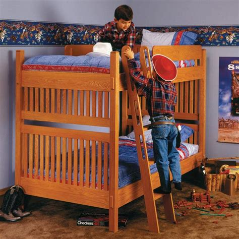 arts  crafts bunk bed woodworking plan  wood magazine
