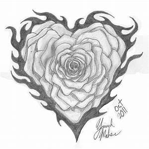Flower Heart Tribal Drawing - griftercash © 2019 - Oct 24 ...