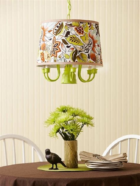 lime green diy chandelier with fabric l shade decoist