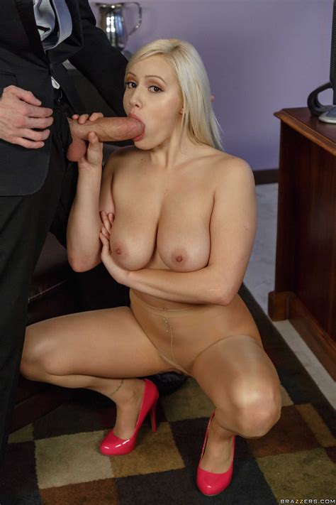 blonde secretary is about to get naked photos kylie page danny d