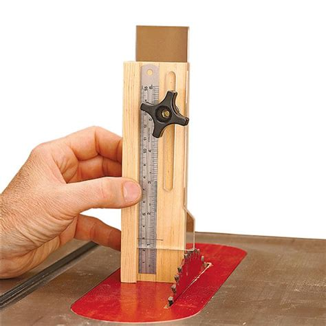 quick  easy height gauge woodworking plan  wood