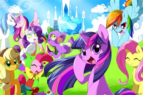 My Pony Anime Wallpaper - my pony friendship is magic hd wallpaper