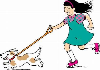 Clipart Children Walking Clip Walk Dog Advertisement