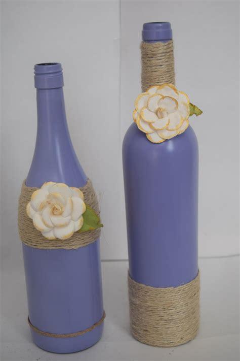 Decorative Wine Bottles by Decorative Wine Bottles Home Decor Purple By Rusticchicbytanya
