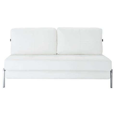 canape 2 place convertible canap 233 blanc 2 places convertible detroit maisons du monde