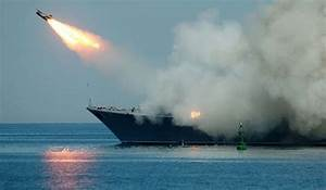 Russian warships fire cruise missiles at IS groups near ...