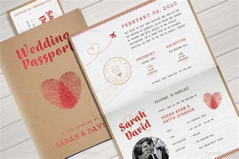 Vintage Passport Wedding Invitation By Vector_vactory