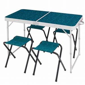 Table De Camping Pliante : table pliante 4 pers 4 si ges decathlon ~ Dailycaller-alerts.com Idées de Décoration