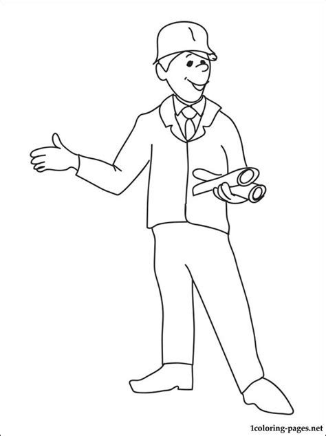 coloring page   engineer coloring pages