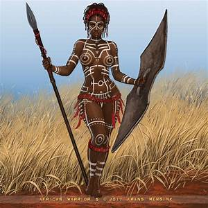 African Warrior 5 by Frans Mensink : ImaginaryBoners