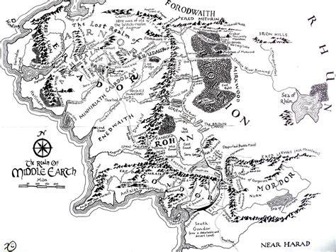 middle earth map  kilbeth  deviantart