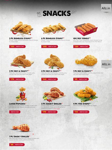 KFC India full menu with prices (Updated : Dec 2017) - Allz.in