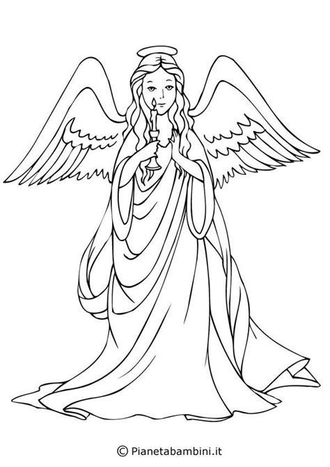 18 disegni di angeli da colorare anielskie kolorowanki coloring pages