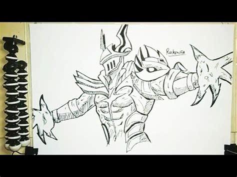menggambar argus hero mobile legends skin light
