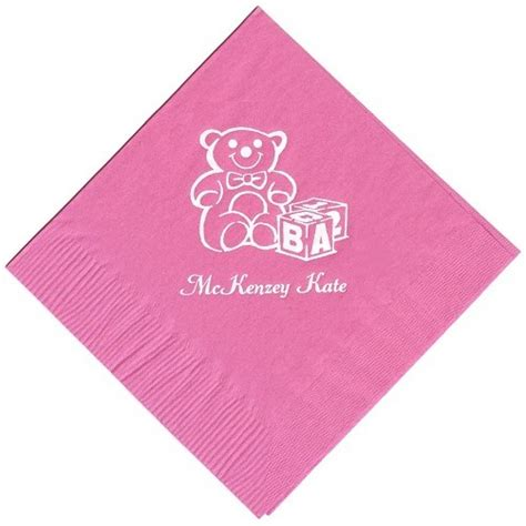 Personalized Wedding, Party, Baby Shower Beverage Napkins