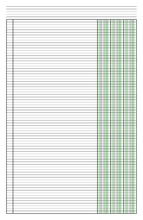 columnar paper   columns  ledger sized paper