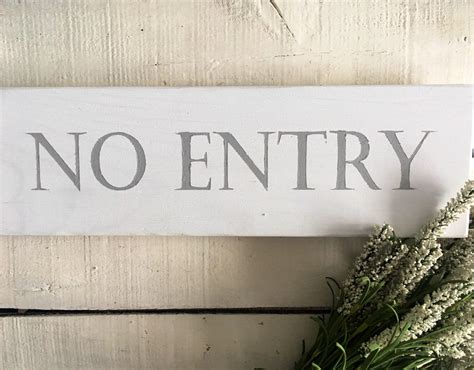 No Entry Sign. Do Not Enter Sign No Addmittance Sign Garden Sign Wood Sign Outdoor Sign by ...